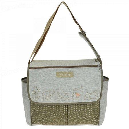 Bolsa Para Bebê Baby Bag Pooh Com Trocador Grande 01950
