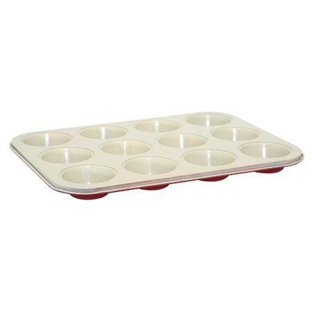 Forma Para 12 Cupcakes Com Revestimento Em Cerâmica