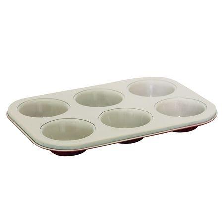 Forma Para 06 Cupcakes Com Revestimento Em Cerâmica