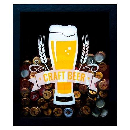 Quadro Porta Tampinha De Cerveja Craft Beer