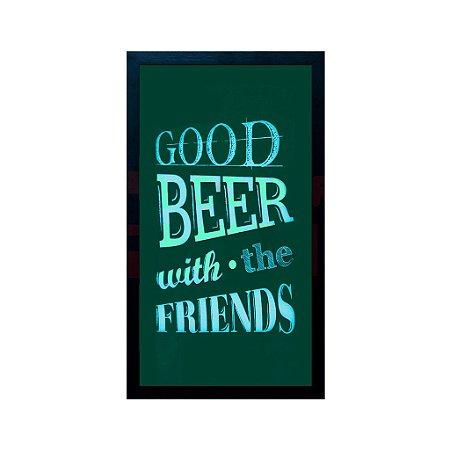 Quadro Porta Tampinha De Cerveja Good Friends Good Beer