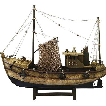 Miniatura Barco Pesqueiro Envelhecido The Home (ba-14)