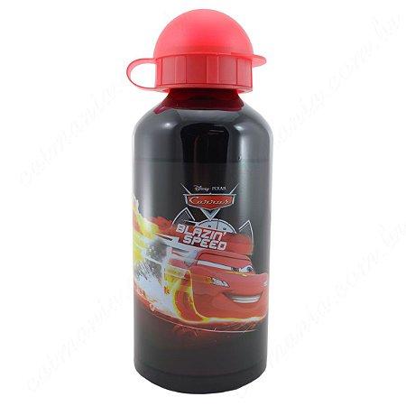 Garrafa Squeeze Em Aço Inox Carros Disney Preta Dmw (25511)