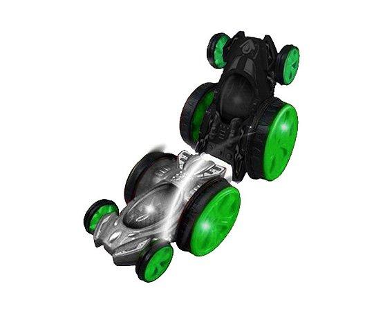 Carrinho Controle Remoto Tornado Racers Duo Flip Mund Toys Preto e Cinza