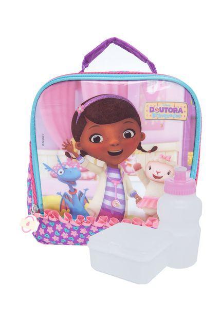 Lancheira Doutora Brinquedos Disney Infantil Escolar Dermiwil 60172