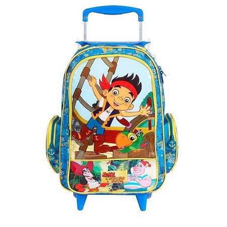 Mochila de Rodinhas Mochilete Escolar Disney Jake e os Piratas da Terra do Nunca (60256)