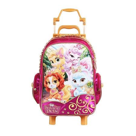Mochila de Rodinhas Mochilete Escolar Disney Princesas Palace Pets Dermiwil (60417)