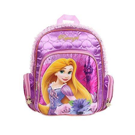 Mochila Média Rapunzel Disney Dermiwil Infantil Rosa (60427)