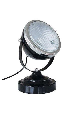Luminária De Mesa Car Front Light Preta 110w (26215)