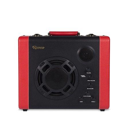 Caixa Amplificadora Raveo Pulse Usb Vermelho E Preto (07930)