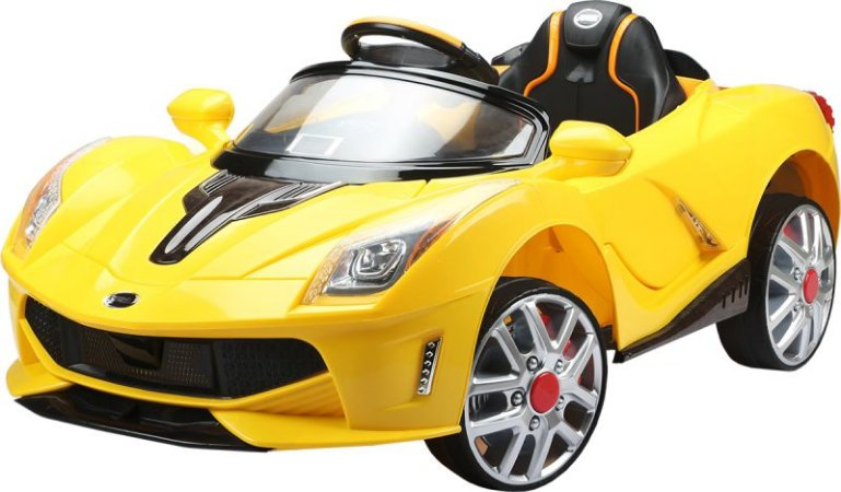Carro Elétrico Esportivo Luxo Amarelo 12v Com Controle 9268