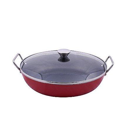Frigideira Antiaderente Gourmet Vermelha 30cm (51767)