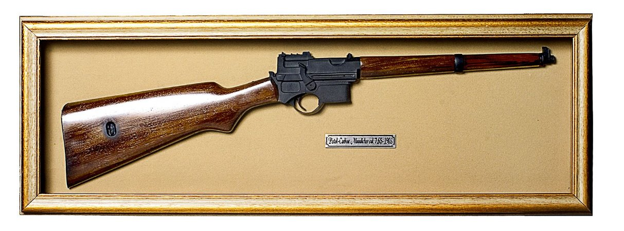 Quadro Réplica Da Arma Pistol-carbine Mannlicher Cal.7 1903