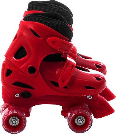 Roller Clássico Retrô 4 Rodas Vermelho M 33-36 (368500)