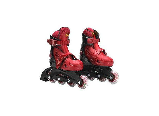 Patins Roller Radical Inline M Vermelho Bel Fix 33-36 367200