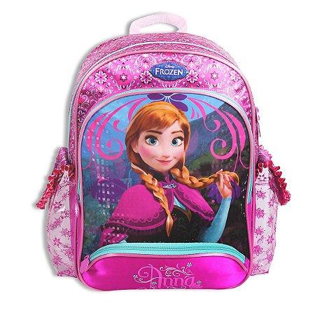 Mochila De Costas Anna Frozen Grande Infantil Escolar 60217