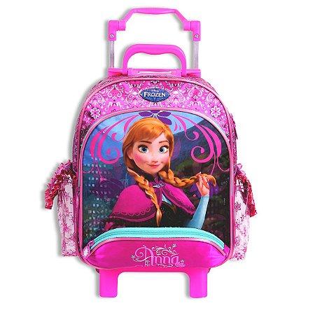 Mochila de Rodinhas Mochilete Escolar Disney Frozen Anna (60220)