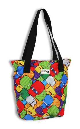 Bolsa Tote Toonix Colorida Estampada Escolar (51660)