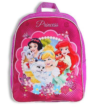 Mochila De Costas M Infantil Princesas Rosa Escolar (60422)