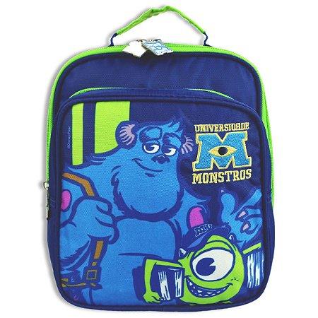 Lancheira Universidade Monstros Infantil Escolar Azul 60480