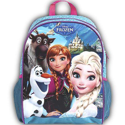 Mochila De Costas Frozen Azul Infantil Escolar (37122)