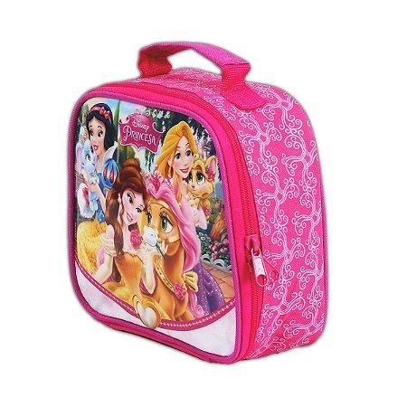 Lancheira Térmica Princesas Pets Rosa Disney Escolar (37238)