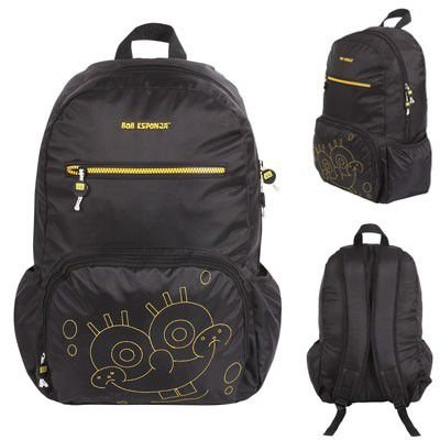 Mochila G Juvenil Escolar Bob Esponja Black Dmw 48580 Preta