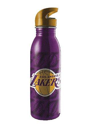Garrafa Squeeze Lakers L.a Em Aço Inox Roxa 600ml (60311)