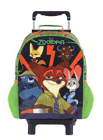 Mochila De Rodinhas Zootopia Infantil Escolar Unissex 37287