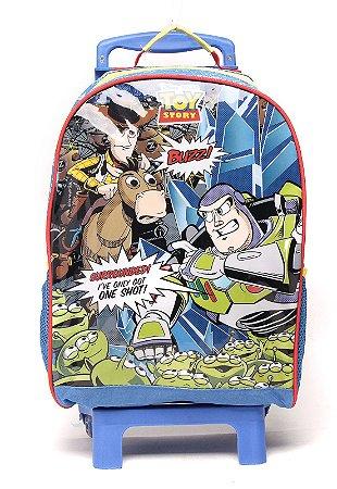 Mochila de Rodinhas Mochilete Escolar Grande Dermiwil Disney Toy Story Quadrinhos (37265)