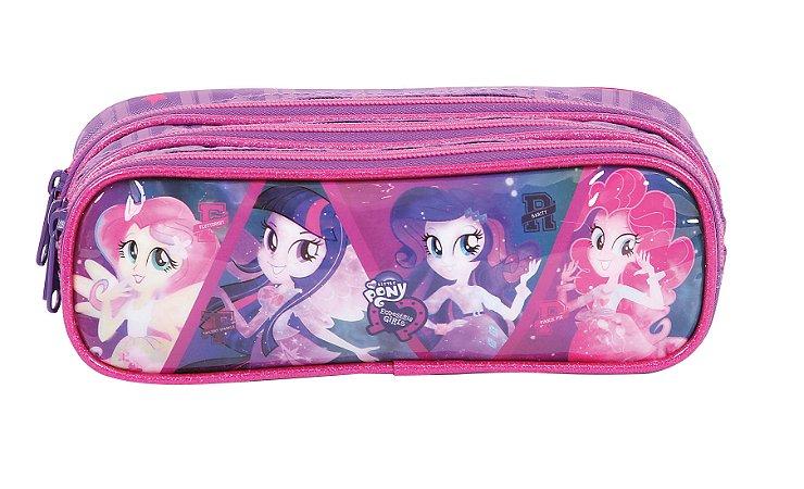 Estojo Soft 3 Divisórias Dermiwil Equestria Girls Purple 49000