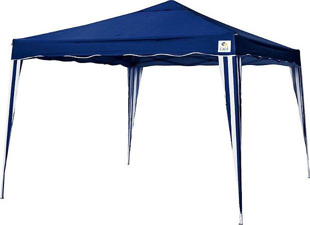 Tenda Gazebo 3x3 Dobrável Alumínio Bel Fix Azul 330300