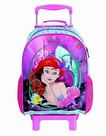 Mochila de Rodinhas Mochilete Escolar Grande Dermiwil Disney A Pequena Sereia (36918)
