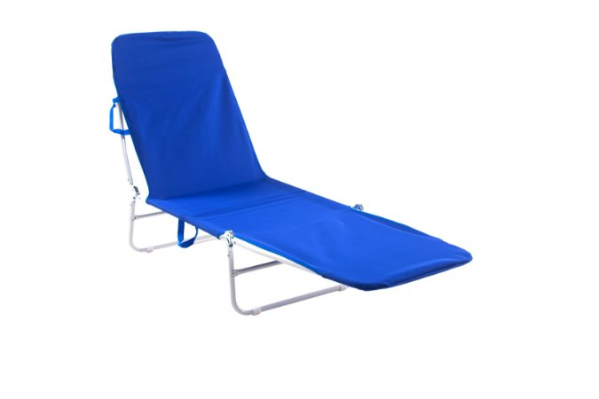 Cadeira Espreguiçadeira Poliester Bel Fix Azul 6000
