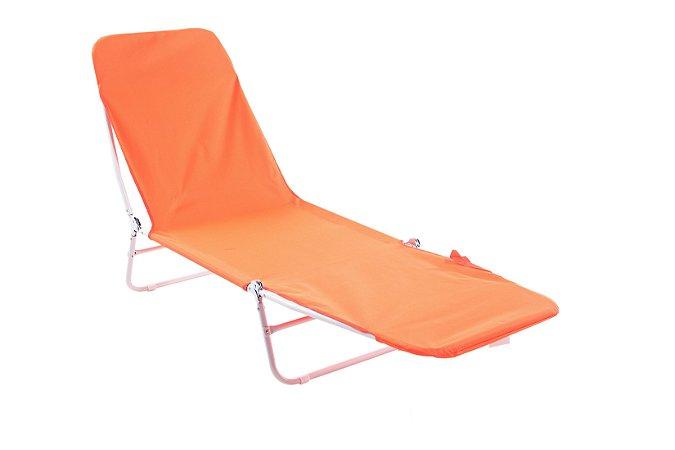 Cadeira Espreguiçadeira Poliester Bel Fix Laranja 6000