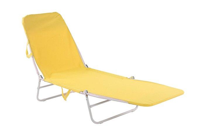 Cadeira Espreguiçadeira Poliester Bel Fix Amarelo 6000
