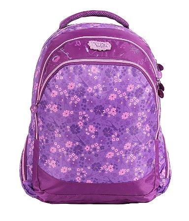 Mochila G Escolar Dermiwil Flowers Violetta 60485