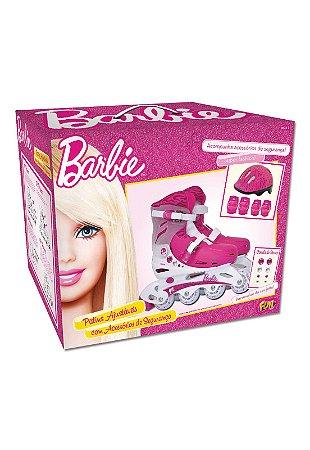 Patins Ajustáveis Barbie G2 37 ao 40 C/Acessórios 8007-7