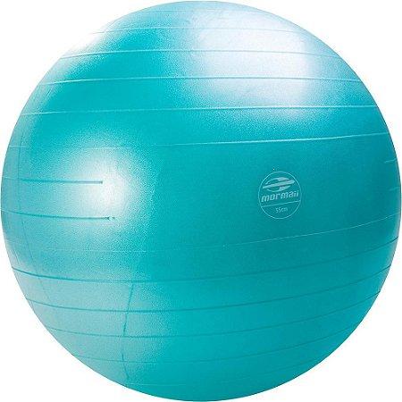 Bola de Ginástica Azul 55cm Mormaii Fitness Anti-Burst 447100