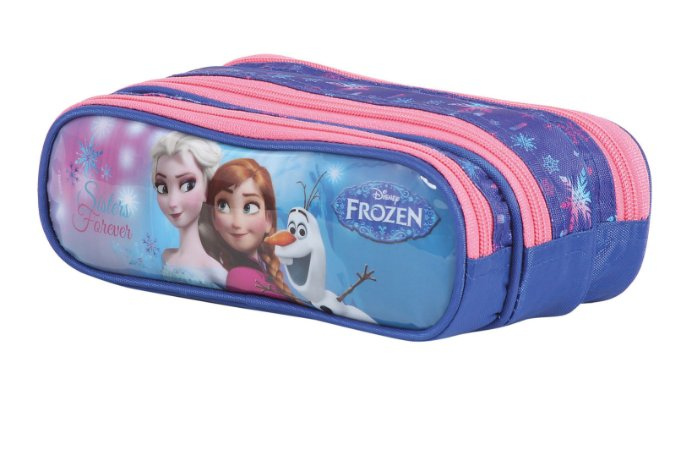 Estojo Soft 3 Divsórias Dermiwil Disney Frozen 37125