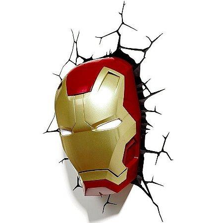 Marvel Luminária 3d Light Fx Máscara Do Homem De Ferro 6920