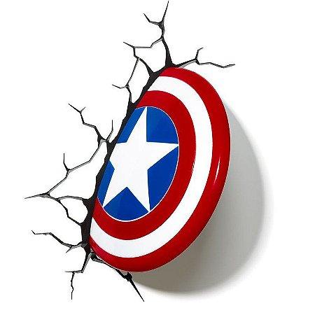 Marvel Luminária 3d Light Fx Escudo Do Capitão América 6922