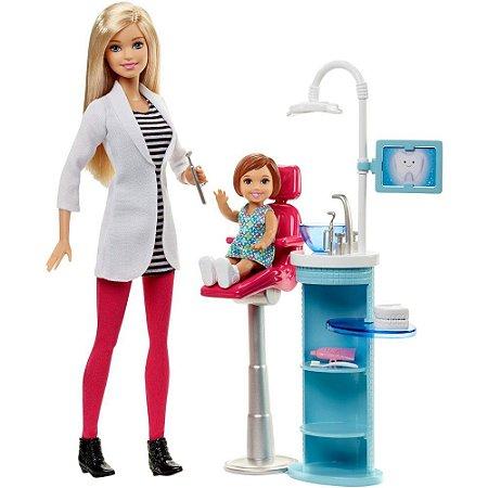 Boneca Barbie Conjunto Dentista DHB63/DHB64 7012