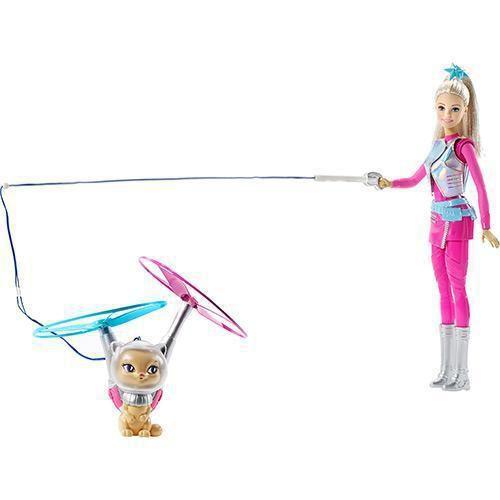 Boneca Barbie Aventura nas Estrelas + Gatinho DLT22