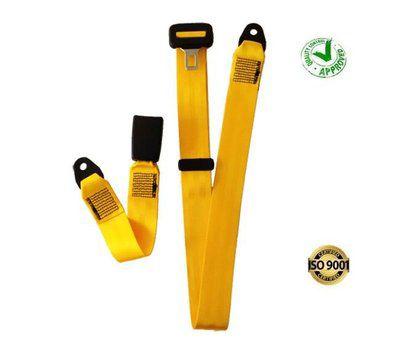 Cinto de Segurança  Estático 2 Pontos Traseiro Amarelo 6947