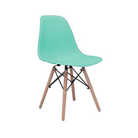 Cadeira Design Charles Eames Eiffel Tiffany Plástico Base Madeira