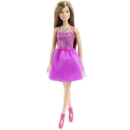 Boneca Barbie Glitter Vestido Roxo