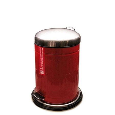 Lixeira Vintage Kitchen Vermelha 12 Litros