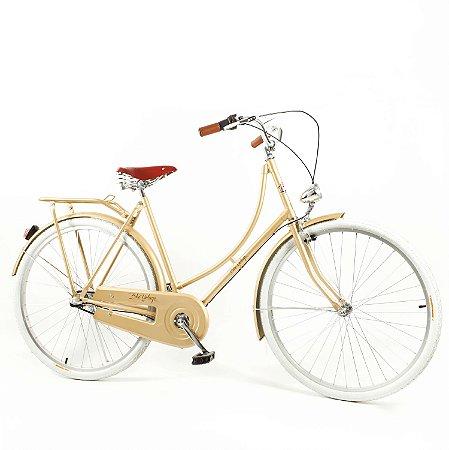 Bicicleta Vintage Retrô Ícaro Plus Gold Aro 28 Com Marcha