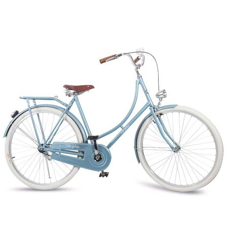 Bicicleta Vintage Retrô Vênus Blue Com Farol Aro 28''